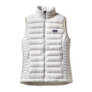 Patagonia Down Sweater Vest SZ M Birch White